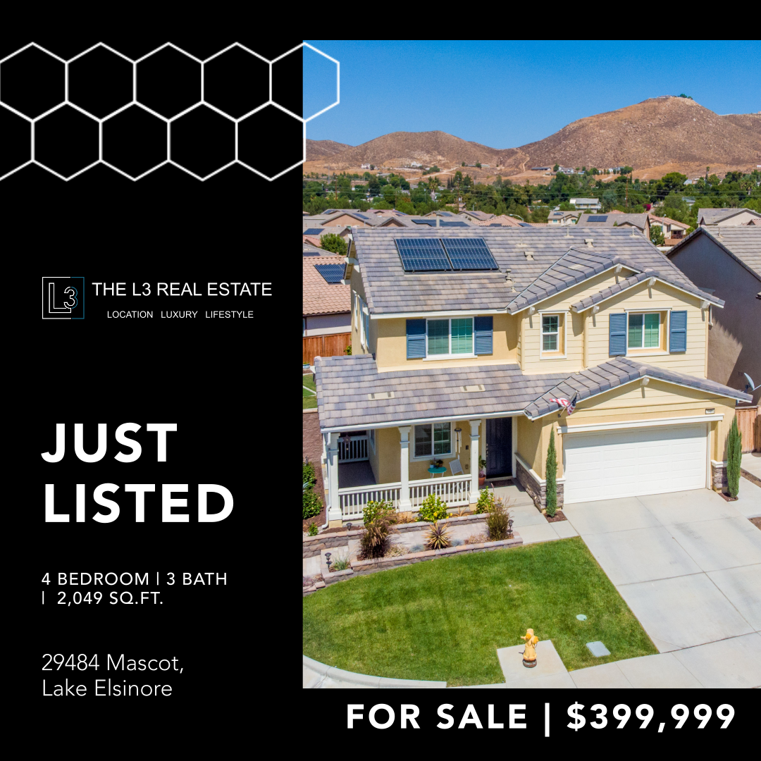 New Listing in Lake Elsinore