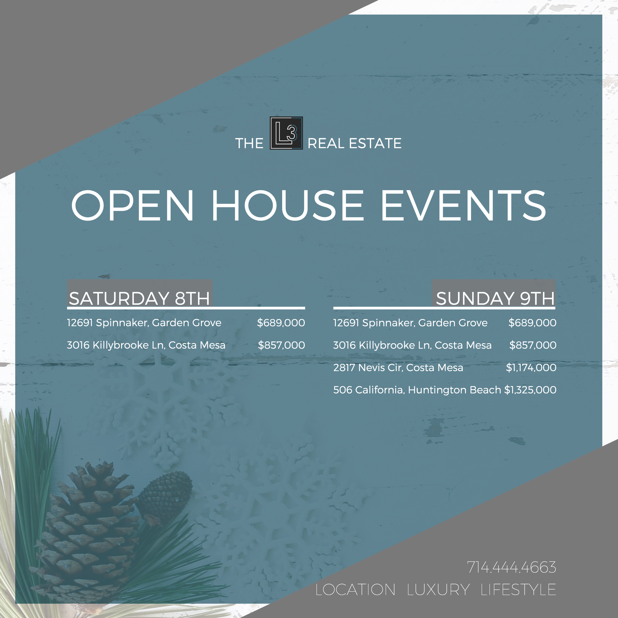 Open House Events!