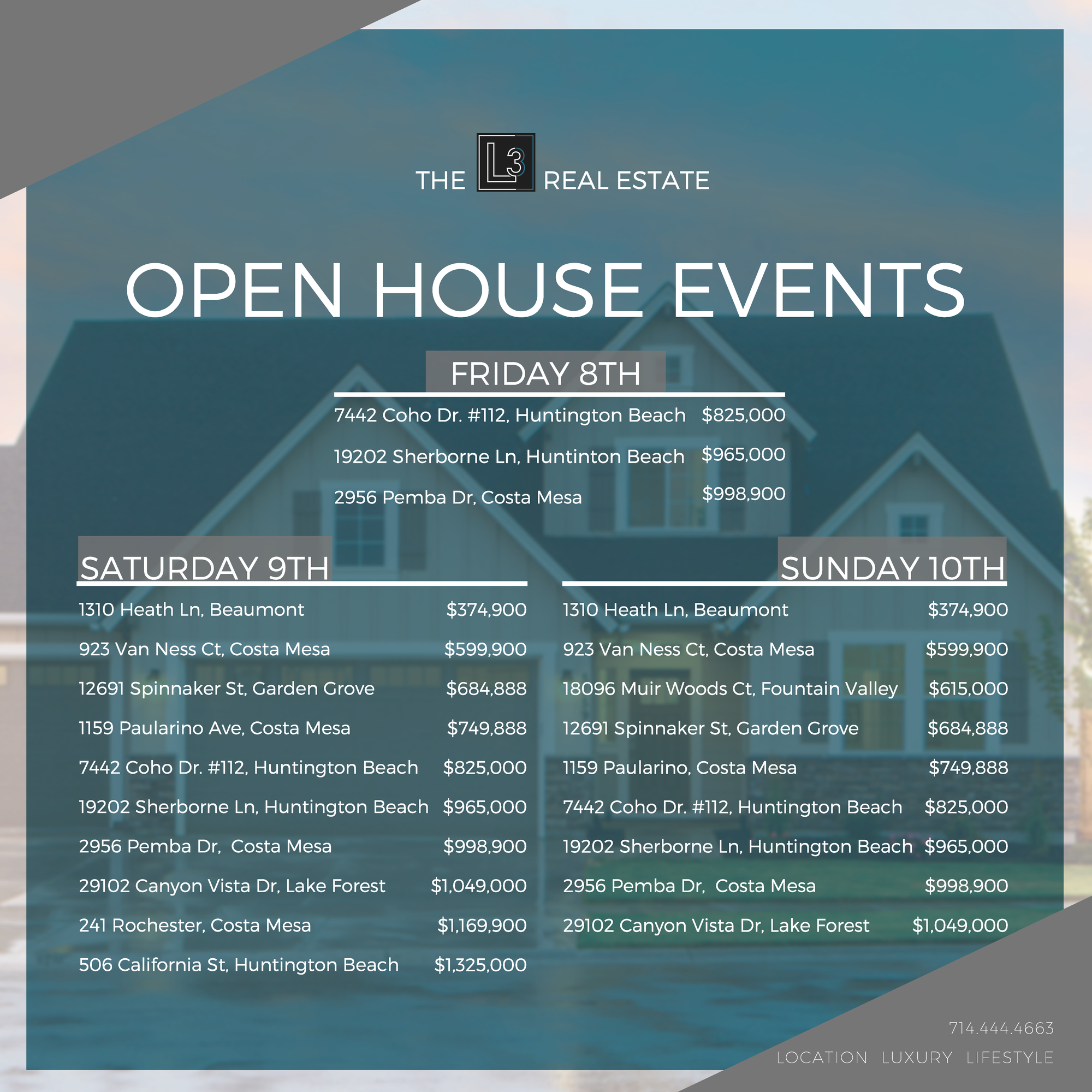 Huge Open House Weekend!