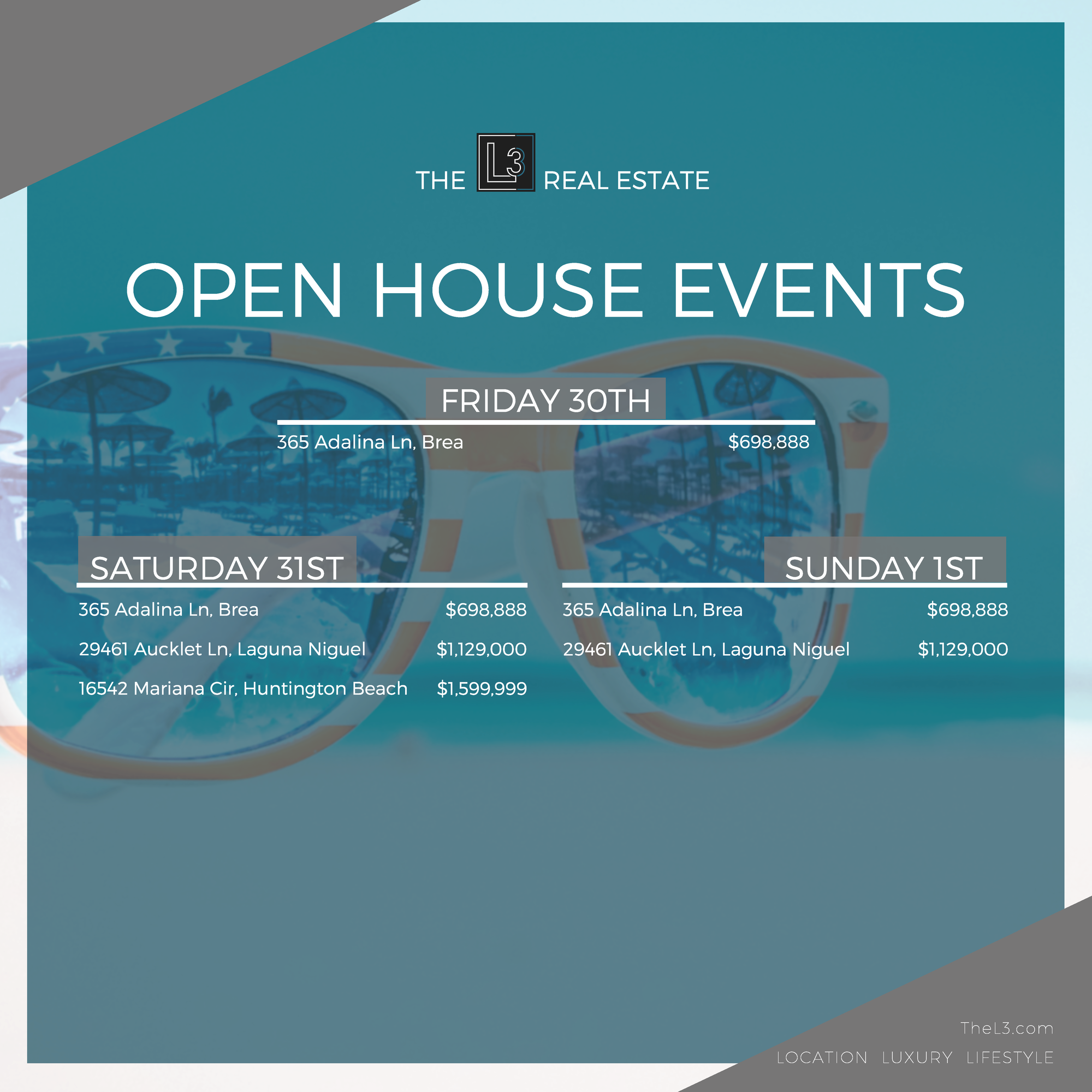 The L3 Open House Events!